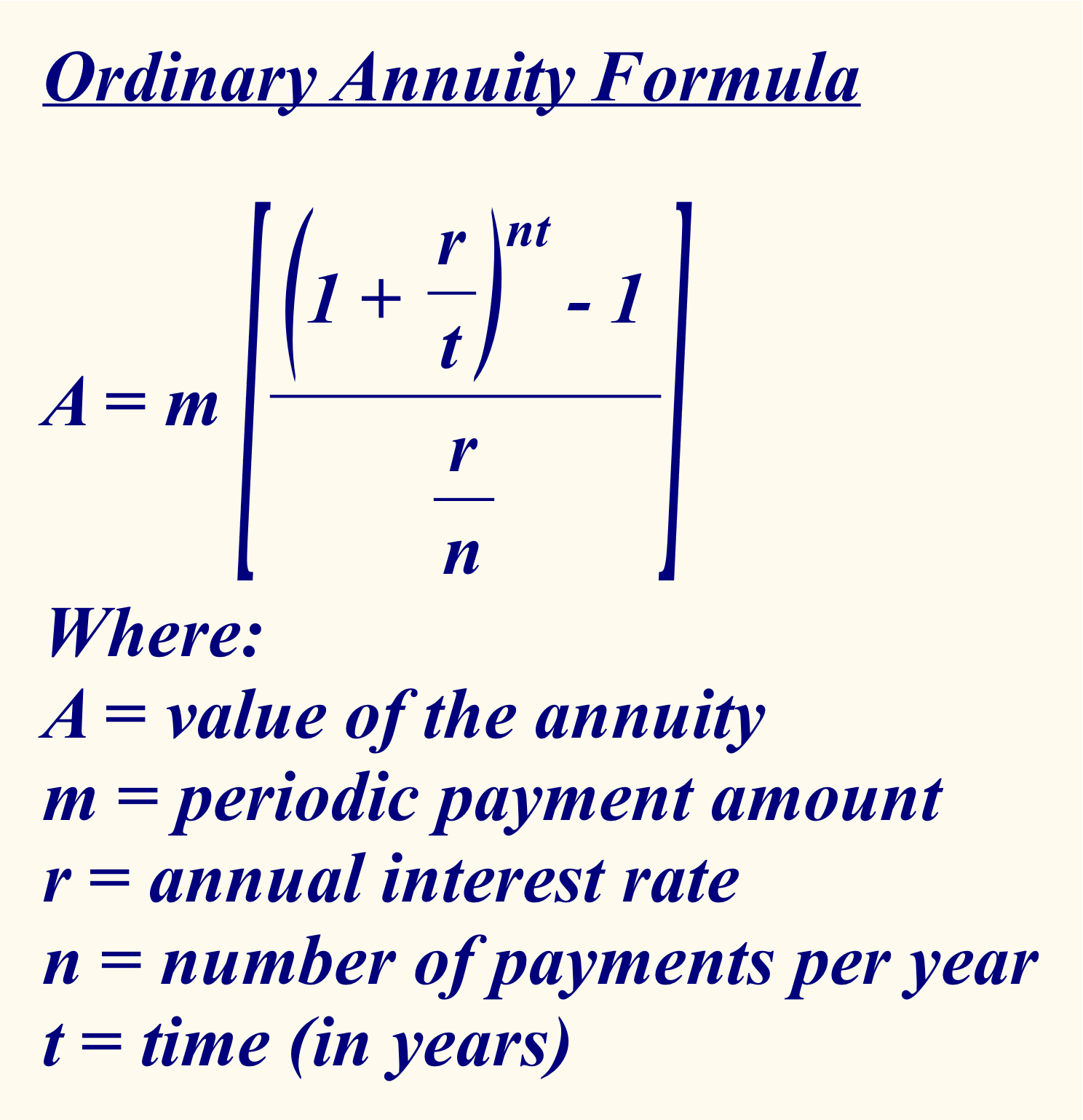 understanding the time value money formula The concept of present value lies at the core of finance every time a business does something that will result in a future payoff or a future obligation, it must calculate the present value of the future cash inflow or outflow understanding the concept of the time value of money is crucial.